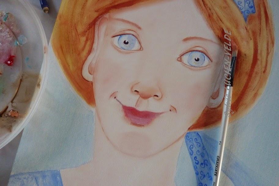 bleu peinture tableau en cours Sylvie Lucien-Velde