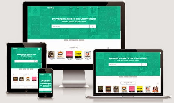 IconMag Responsive Blogger Template