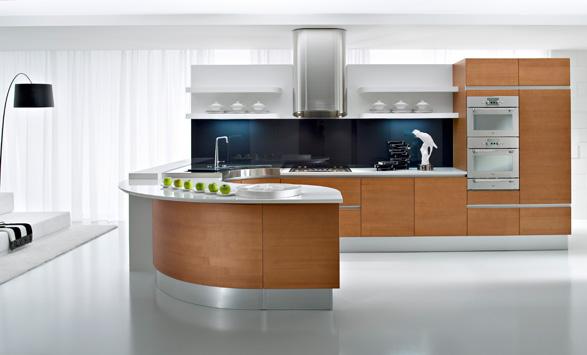 Las suaves formas curvas en las cocinas cocinas con estilo for Muebles de cocina funcionales