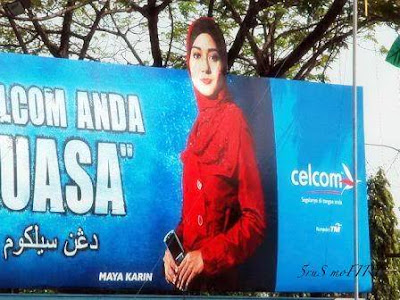 iklan celcom maya karin bertudung