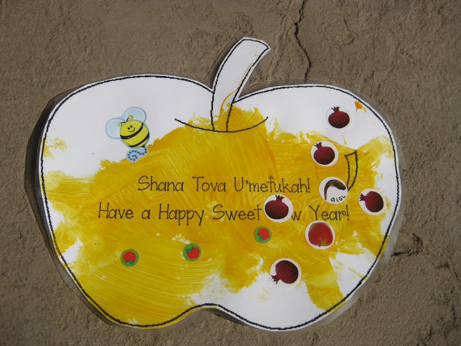 preschool creations rosh hashanah honey mat