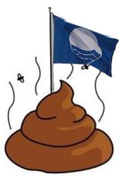 banderas azules territorio sucio