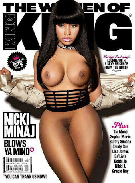 Clusive Nicki Minaj Goes Plete Nude For Kings Magazine