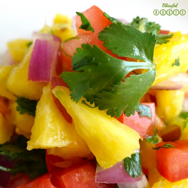 Fresh Pineapple Salsa @ Blissful Roots