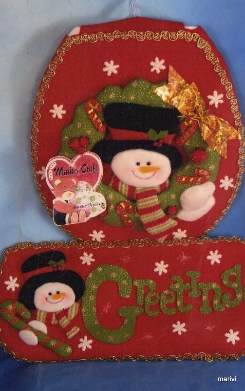 Baño Navidenos Moldes:navidad con patrones: Muñecos de Nieve Navideños