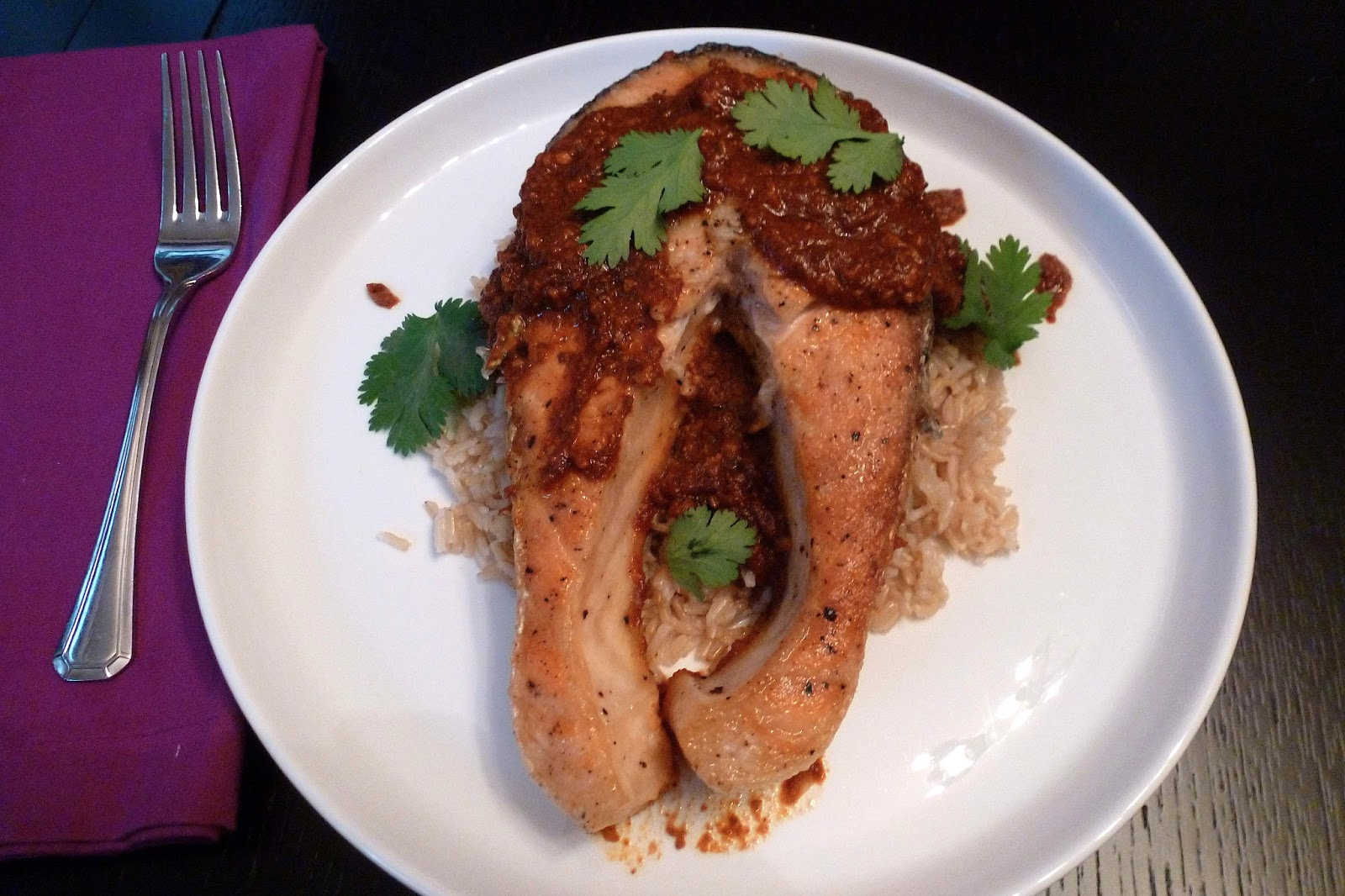 salmon in spicy tomato sauce salmon steaks with spicy salmon steaks ...