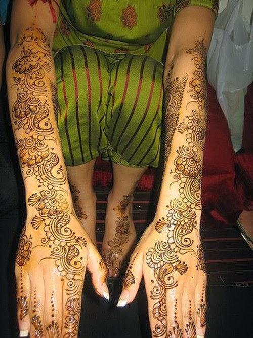Mehndi For Godh Bharai : Beautiful latest simple arabic pakistani indian bridal