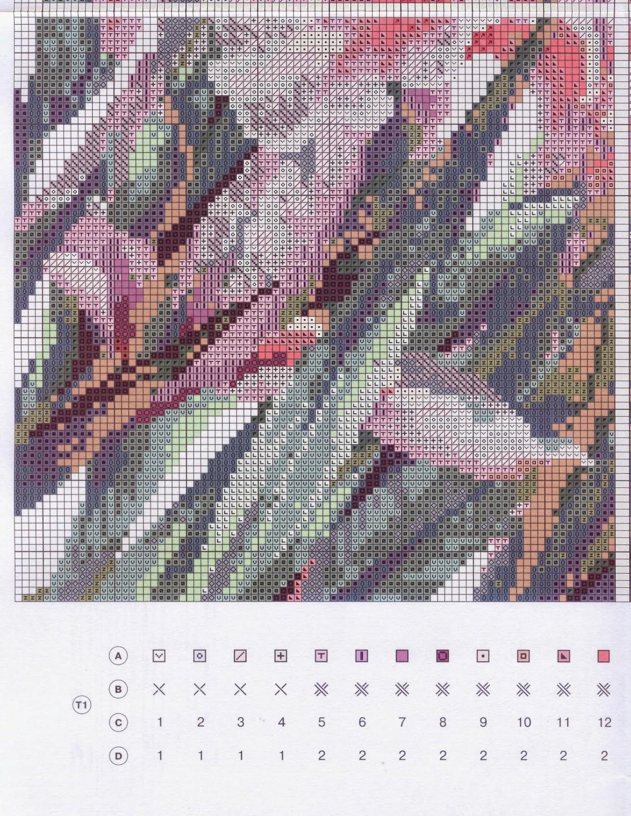 Ирисы риолис схема вышивки