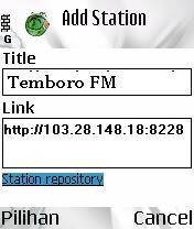 streaming radio via handphone