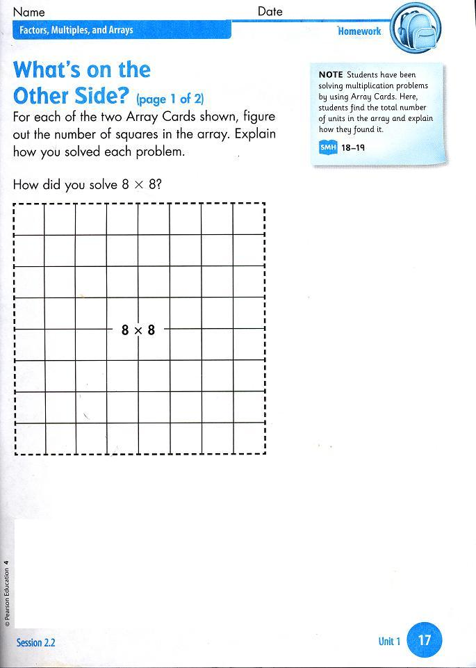 Homework Pages For 4th Grade