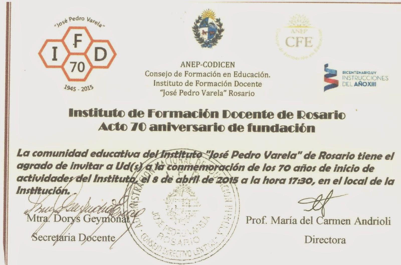 Instituto de formaci n docente mercedes mario a for Instituto formacion docente