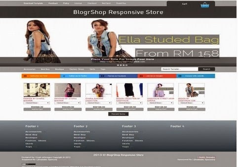 Blogshop Responsive Gallery Style Blogger Template