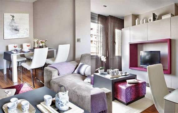 Casa de dise o de interiores encantadores peque os for Colores para apartamentos pequenos