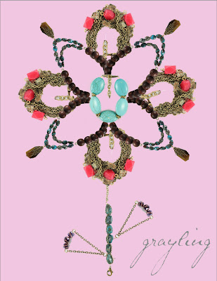 grayling jewelry, mother's day flowers, spring jewelry