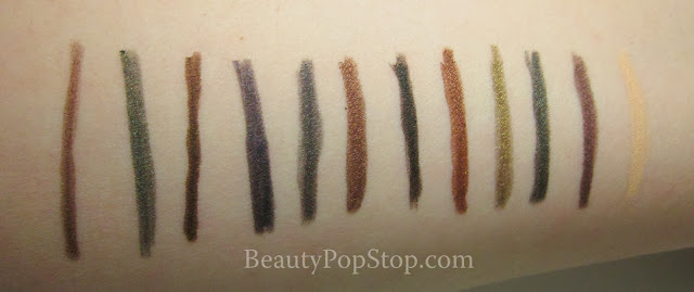 tarte eye opening holiday amazonian clay eyeliner set swatches