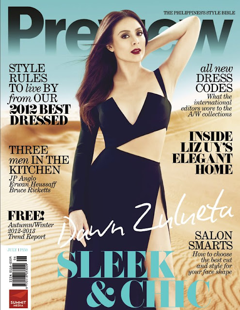 Dawn Zulueta on Preview Magazine July 2012 Cover