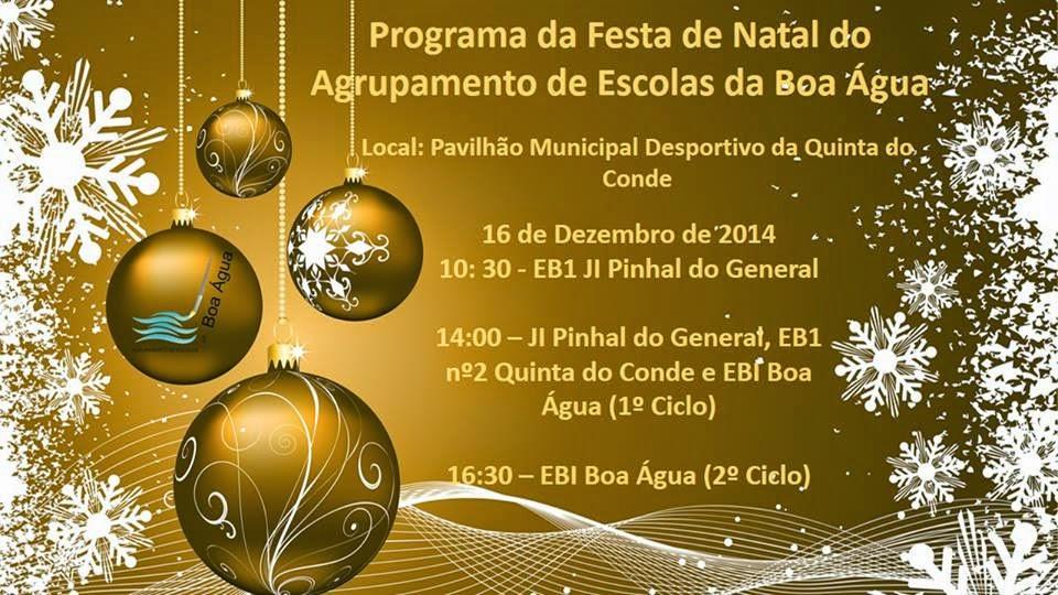 Festa de Natal do Agrupamento de Escolas da Boa Água