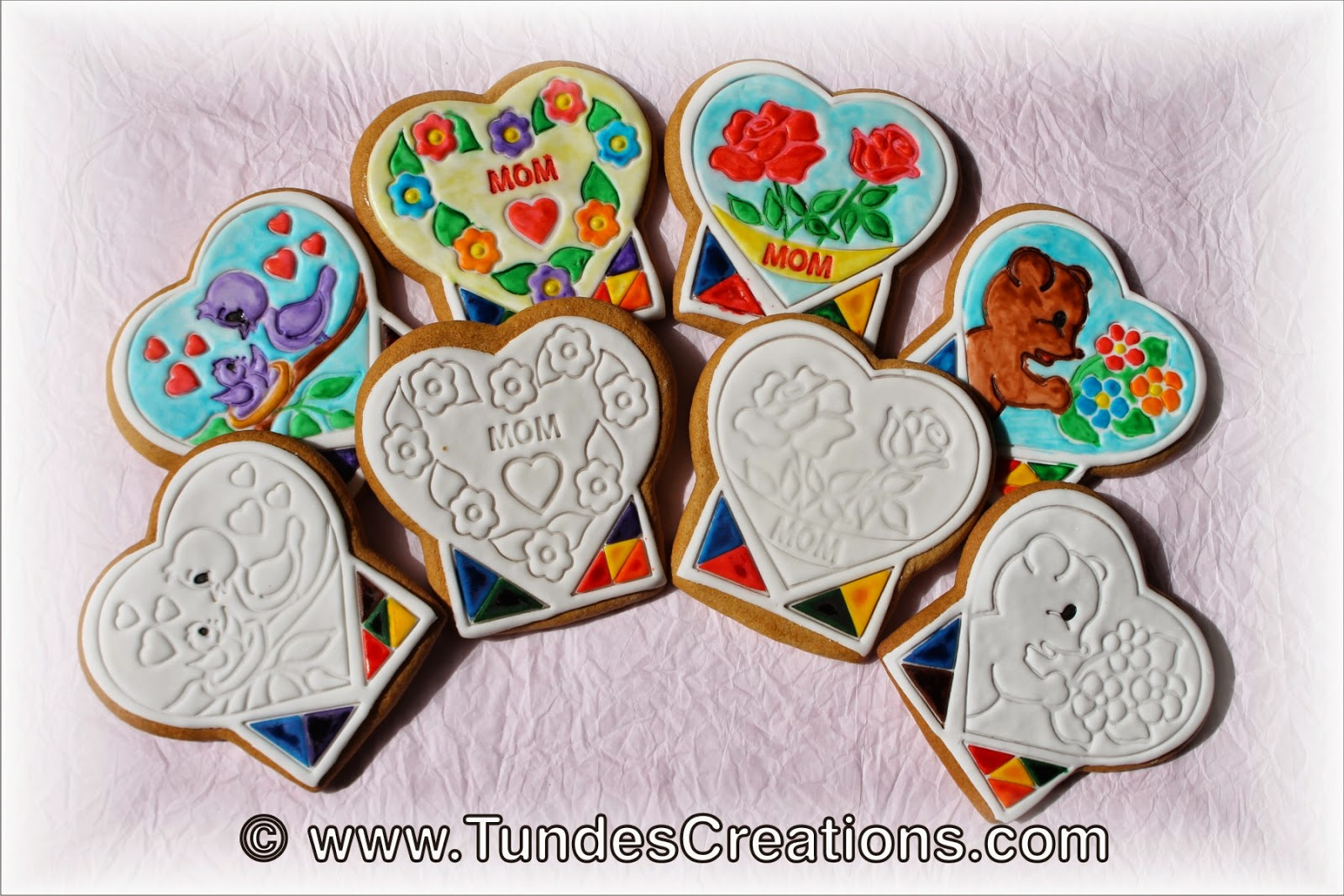 Mother's Day Coloring Cookies by Tunde Dugantsi