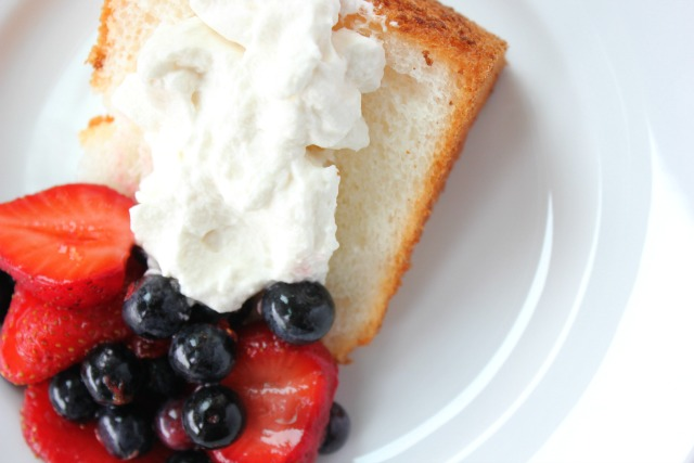 Angel Food Cake with Berries, Fourth of July Cake