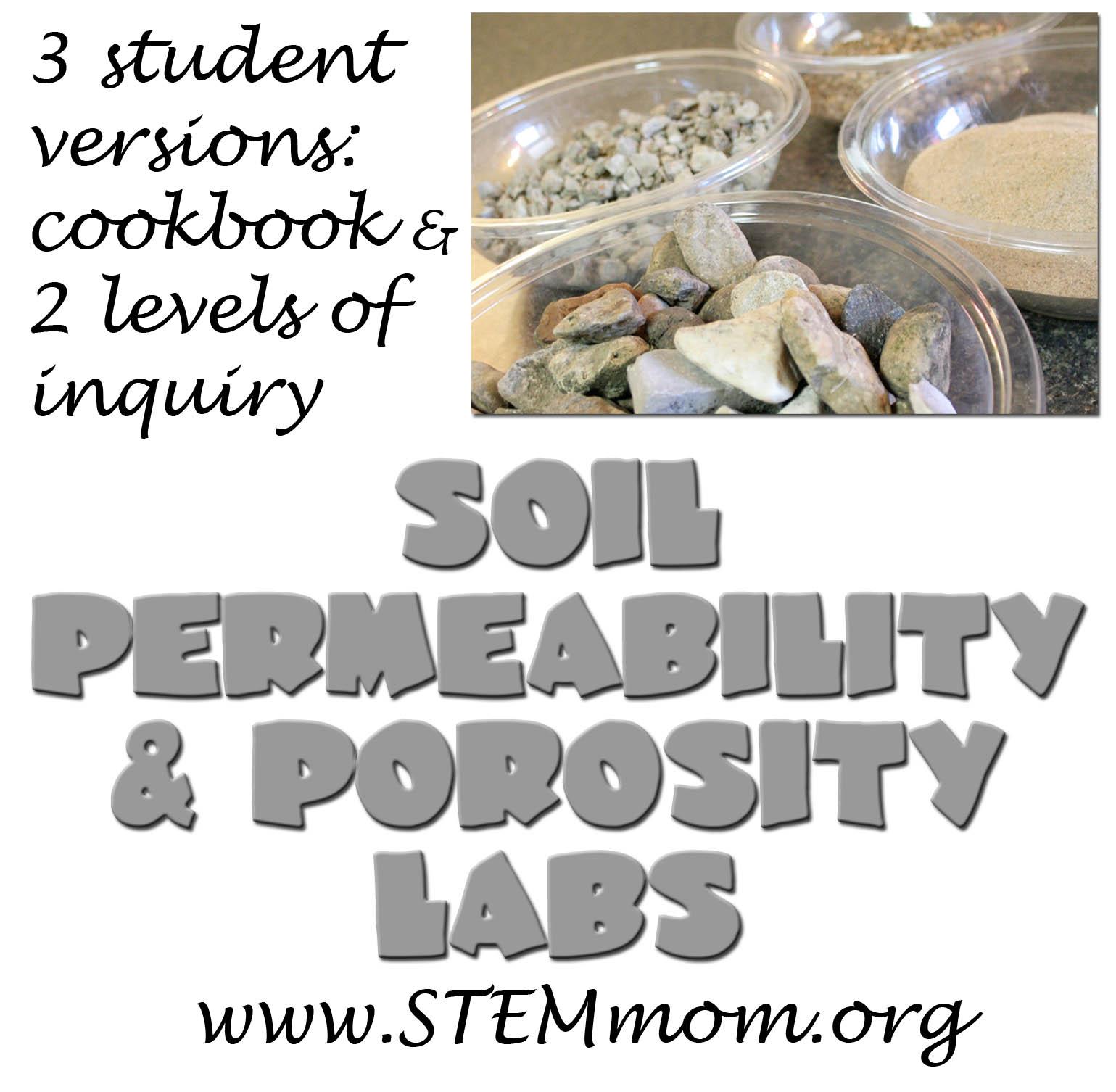 STEM Mom: Soil Permeability and Porosity Lab