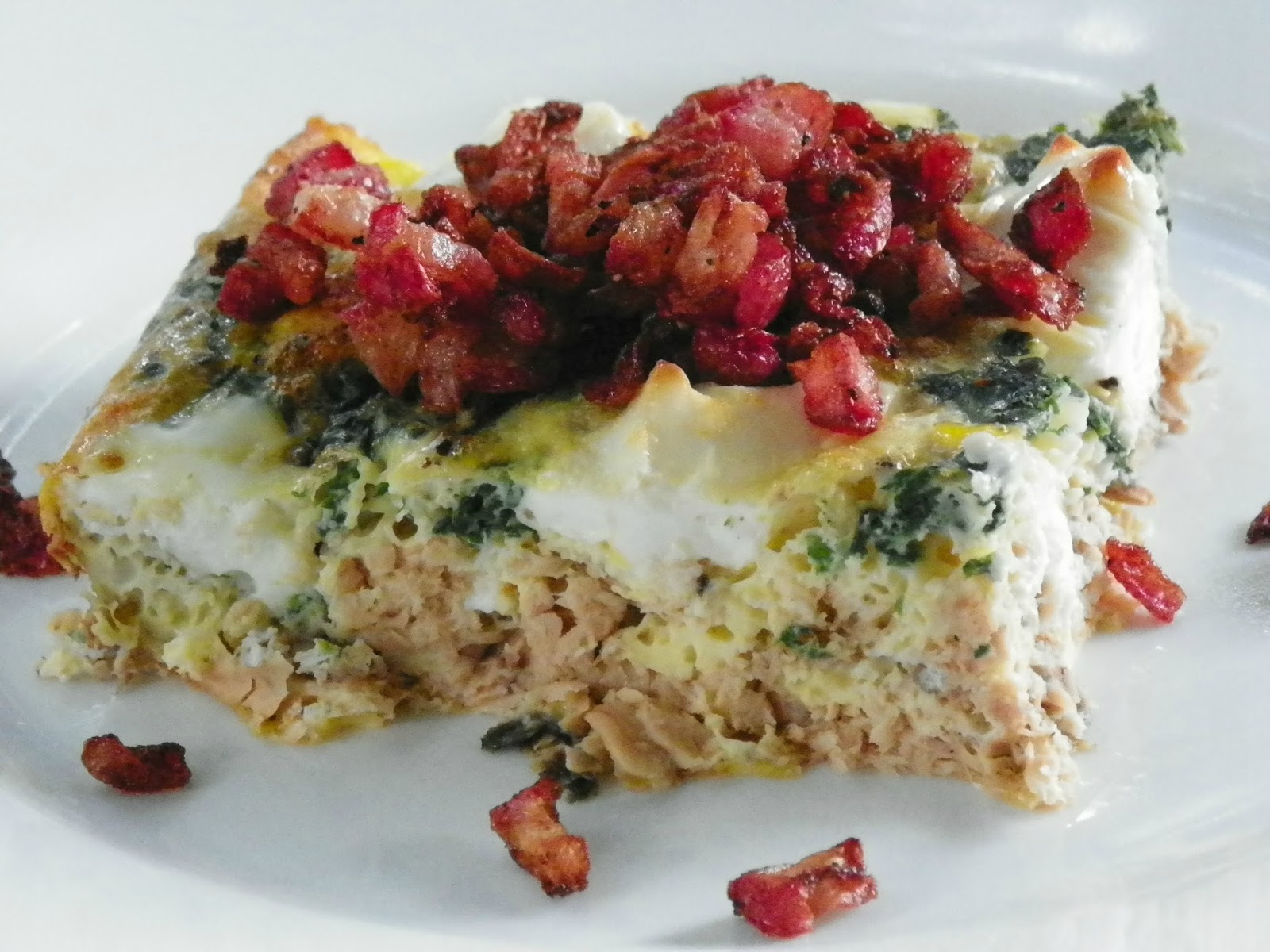 Egg And Cheese Breakfast Casserole With Smoked Salmon And Leeks Recipe ...