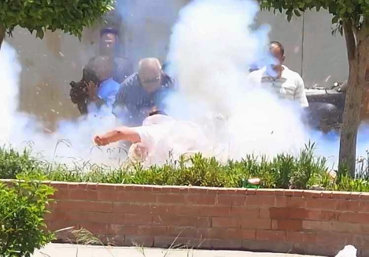 بالفيديو..لحظة انفجار قنبلة بمحيط قصر الإتحادية أثناء محاولة إبطالها