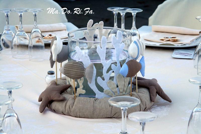 Nozze Al Mare: Il Vaso Con Pesci, Coralli E Stelle Marine. Un Centrotavola  Originalissimo!