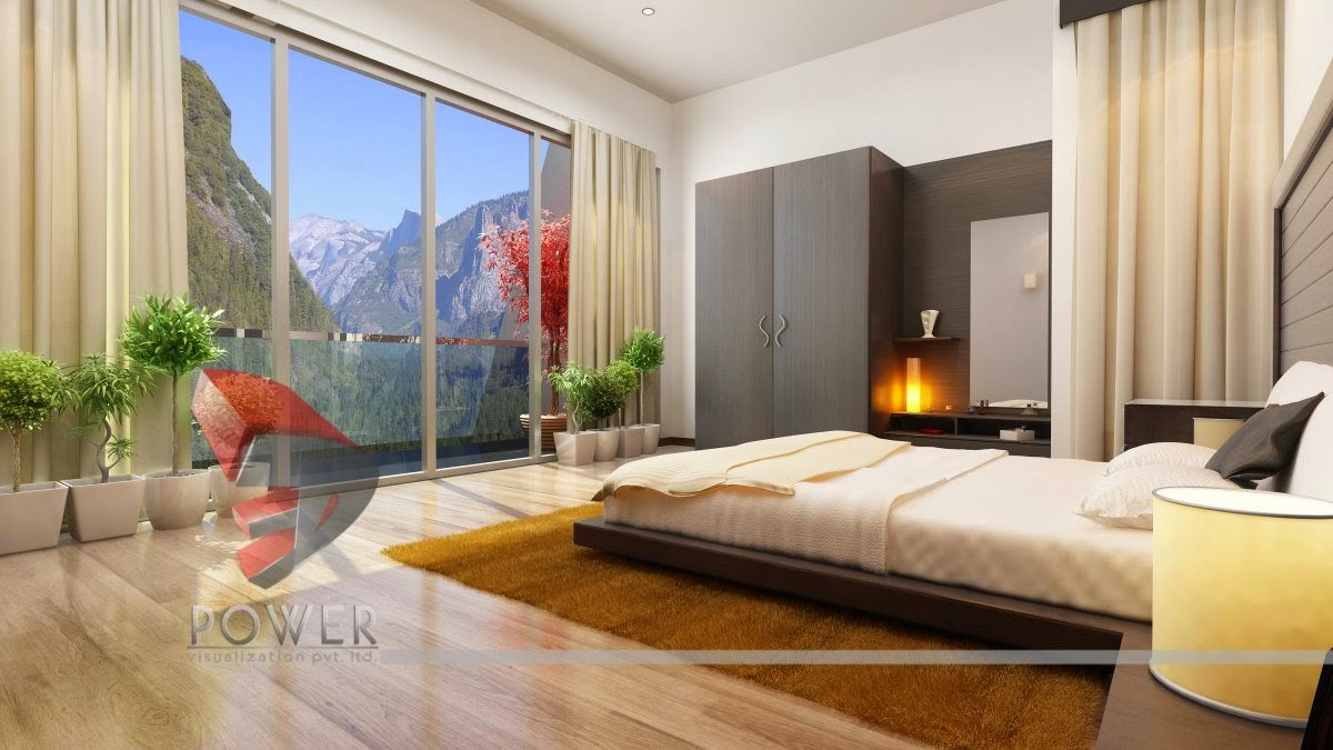 3d Interior Design Of Bedroom For A Residential Project India