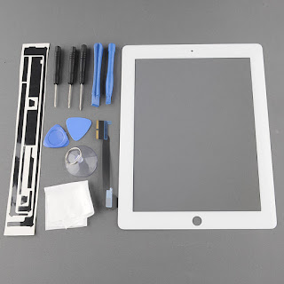 Hot Touch Screen Glass Digitizer For ipad 3 3rd ipad 4 + Repair Tool White