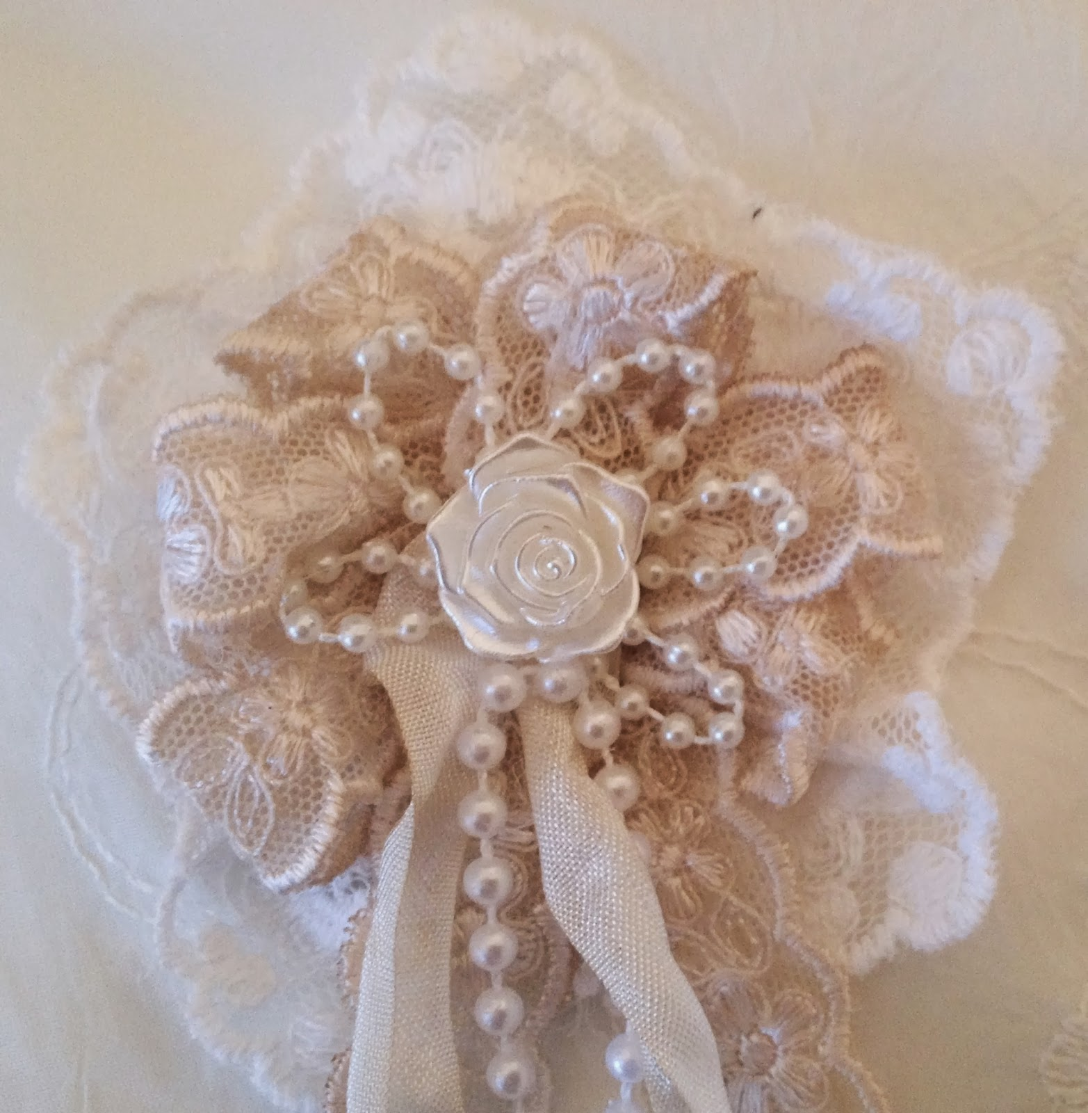 Shabby chic crafts to make - This Flower Is Fast And Really Easy To Make