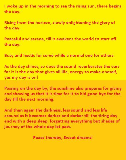poem in october anaylsis