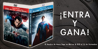 Gana un DVD+Blu-ray+Copia digital de 'El hombre de acero' gracias a Warner Bros y Making Of. CONCURSO