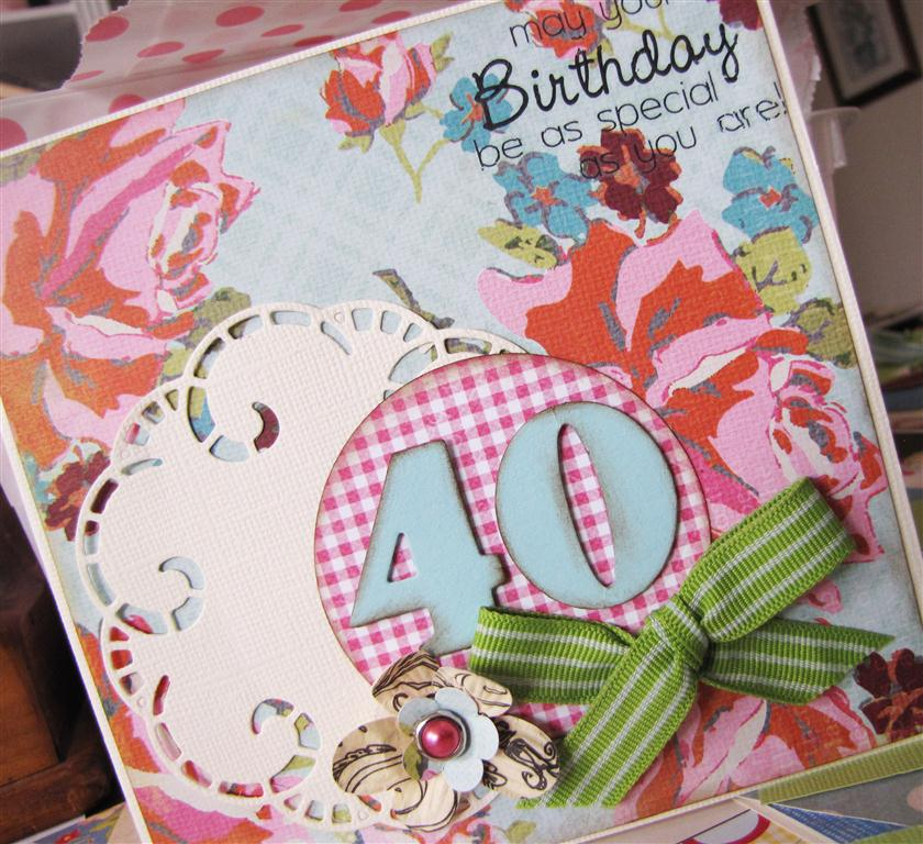 Koko vanilla designs blog handmade 40th birthday card handmade 40th birthday card bookmarktalkfo Choice Image