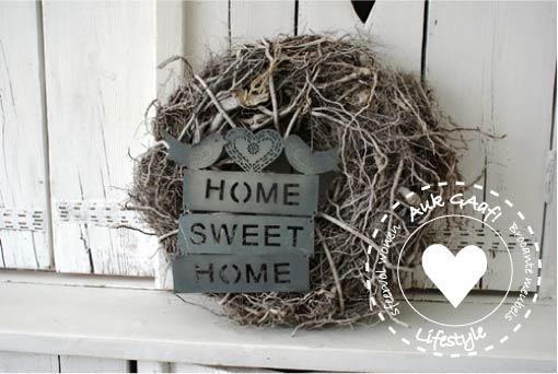 Plaatje van: http://aukgaaf.nl/krans-home-sweet-home-auk-gaaf-kransen ...: thestoryofprincesfrog.blogspot.com/2012/11/18-november-2012-want-to...
