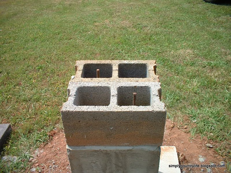 Simply country life our biggest diy project to date for Cinder block cabin