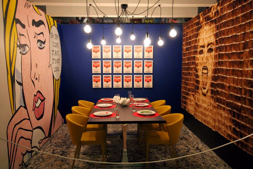 The Making Of Breaking Bread Attica Creates A Modern Art Pop Culture Dining Room At Dine By Design East