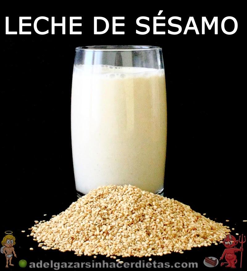 CON VIDEO. Receta saludable de LECHE DE SÉSAMO baja en calorías y colesterol, apta para diabéticos, veganos, celíacos e intolerantes a la lactosa. LECHES VEGETALES. COCINA FÁCIL Y SANA.