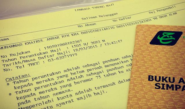 Daftar Haji, Tabung Haji, KWSP, Tahun Peruntukan Haji