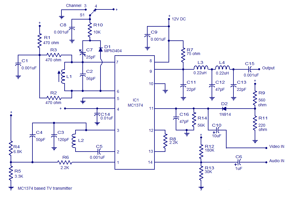 Tv Transmitter Circuit Ic Mc374