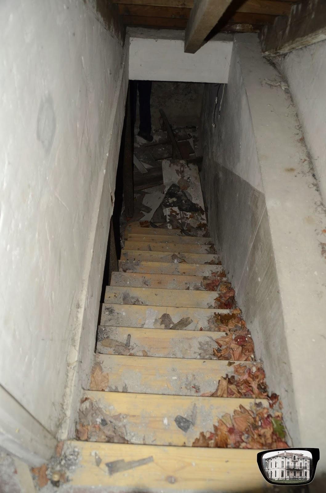Nos vemos de abandoneo casa abandonada con piscina - Escaleras para sotanos ...