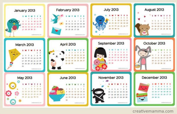 Free Printable Calendar Templates For Kids Image Collections