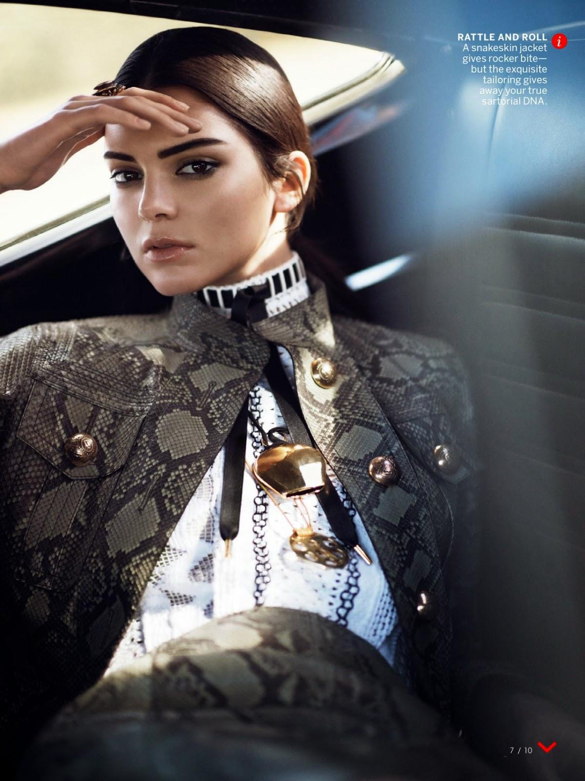 صور كيندال جينر في مجلة Vogue إصدار يناير 2015