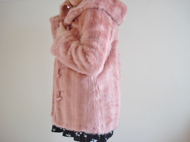 Pink Fluffy Coat Topshop | Down Coat