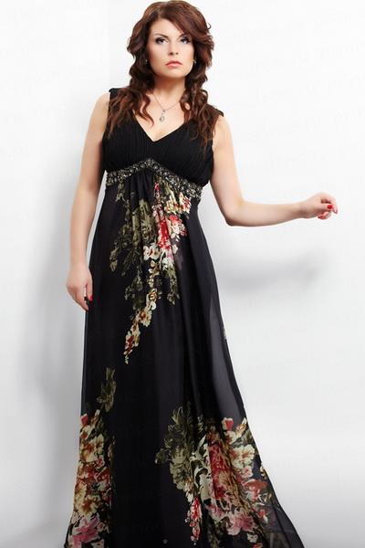 Большую роль при шитье вечернего платья для полных дам играет цвет. . Модные платья для торжеств, сшитые из