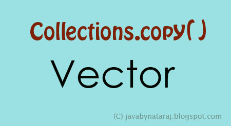 Copy Elements from Vector to Vector_JavabynataraJ