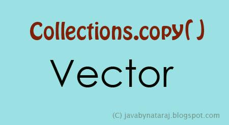 Copy Elements from Vector to Vector_JavabynataraJ