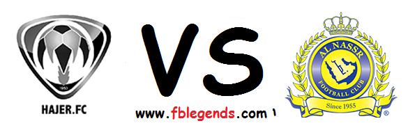 مشاهدة مباراة النصر وهجر بث مباشر اليوم الجمعة 17-4-2015 اون لاين دوري عبداللطيف جميل يوتيوب لايف alnasr vs hajer