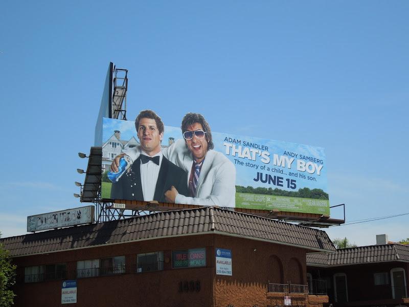 Thats My Boy movie billboard
