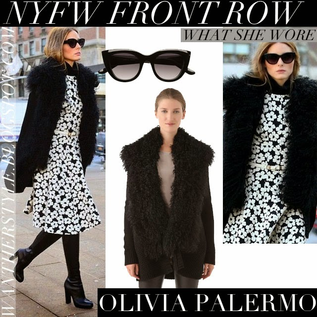 What She Wore Olivia Palermo In Flower Print Black And White Dress