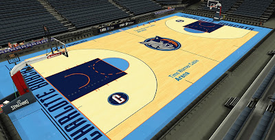 NBA 2K14 Bobcats HD Court Mod